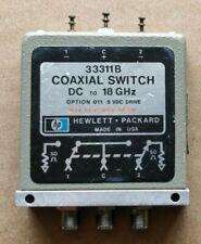 HP 33311B Coaxial Switch DC To 18 Ghz 24 VDC SMA