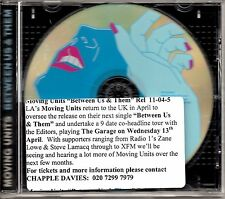MOVING UNITS - BETWEEN US AND THEM - RARE PROMO CD SINGLE - MINT