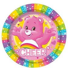 Girls Birthday Party Paper Plates Care Bears TV Show Rainbow 80s Retro