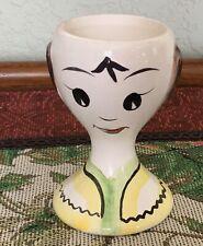Vintage Egg Cup Egg Holder Cute Girl