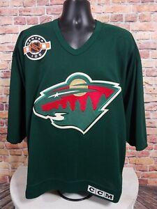 Minnesota Wild Blank NHL Hockey Jersey Green Mens Size Medium Center Ice CCM EUC