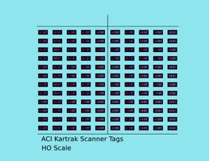 K4 HO Decals Kartrak ACI Scanner Barcode Tags