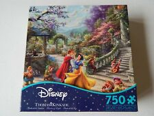 "Disney Thomas Kinkade 750 Piece Puzzle Snow White Made in the USA Ceaco 24""X 18"""