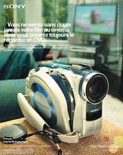 PUBLICITE ADVERTISING 085  2003  SONY  caméscope HANDYCAM