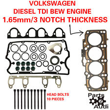 OE Cylinder Head Gasket Set With Bolts For VW Diesel 1.9 BEW Eng 3 NOTCH
