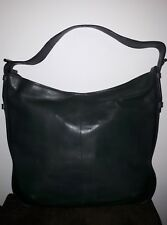 Marks And Spencer Autograph Extra Large Green Leather Bucket bag