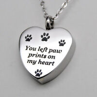 Pet Cremation Urn Necklace || Holds Dog or Cat Ashes || Engraveable