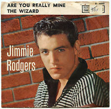 JIMMIE RODGERS Are You Really Mine / The Wizard 1958 US 45rpm w/ Picture Sleeve