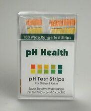 100 STRIPS ALKALINE pH DUAL TEST STRIPS KIT URINE & SALIVA pH FOR BODY LEVELS