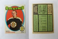 1971-72 OPC O-Pee-Chee #54 Cheevers Gerry    bruins