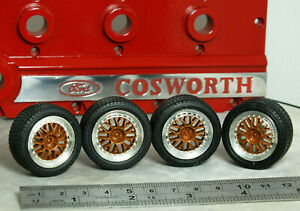 """1:18 RICKO Ford RS200 Rally """"BBS SUPER RS GOLD WHEELS"""" MODIFIED TUNING Sierra"""
