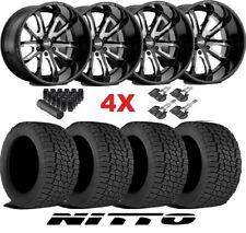 17 Gloss Black Wheels Rims Tires 285 70 17 Nitto G2 All Terrain Moto Fuel Xd