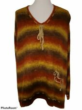 Bit & Bridle For Her Poncho Sweater Embroidered Horse Equestrian One Size to XL