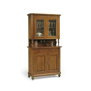 Glass Cabinet Neapolitan, Base + Lifting Up, 2 Doors CMS 104X43X218H (189)