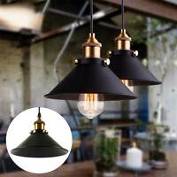 Plafonnier moderne abat-jour noir pendentif éclairage industriel en métal E27 CD