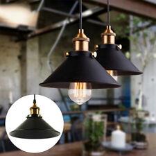 Modern Ceiling Light Black Shade Pendant Vintage Industrial Metal E27 Lighting