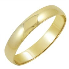 Men's 14K Yellow or White Gold 4mm Traditional Fit Plain Wedding Band