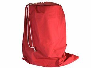 Red Poly-Cotton Drawstring Gift Sack - Extra Large 64cm  x 107cm - Xmas Santa