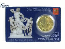 *** 50 Cent VATIKAN 2012 COINCARD Euro Münze Vaticano Benedikt KMS Coin-Card ***