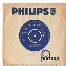"The Brothers Four - Beautiful Brown Eyes 7"" Single 1960"