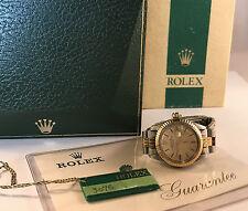 Vintg Rolex Oyster Perp Date 6917 Watch Steel & 14K RARE BOX!!!