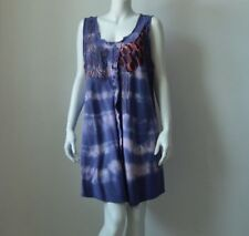 Gregory Cotton & Silk Blend Women's Shift Dress Multi-Color Used Size L