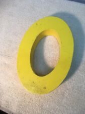 Letter O Big Vtg Wood Block Type Italic Font 8in X 5in X 15in Yellow