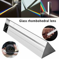 Optical Glass Triple Triangular Prism Light Spectrum for Photography Teaching