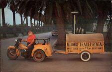 3-Wheel Motorcycle Pharr Texas TX National Trailer Rental Advert Postcard
