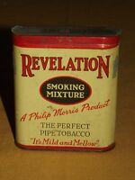 VINTAGE PHILIP MORRIS REVELATION SMOKING MIXTURE PIPE TOBACCO  TIN CAN