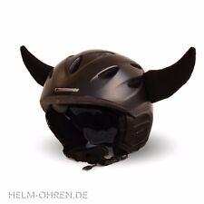 Helmhörner /Ohren Teufel Hörner f Helm/ Skihelm Snowboardhelm Kinderhelm Schwarz