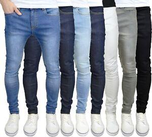 526Jeanswear Mens Super Skinny Fit Stretch Denim Jeans