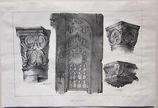 1838 YZEURE MOULINS SOUVIGNY Durand Allier Desrosiers décorations architecture