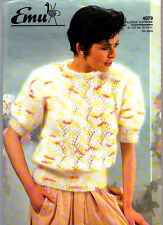 EMU Knitting Pattern, signore Maglione, 4079, 32-42 in