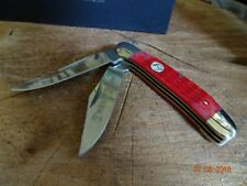 BOKER COPPERHEAD RED JIGGED BONE 2 GERMAN S.S. MADE IN GERMANY BY HAND SUPERIOR