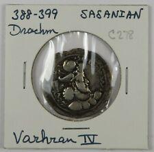 C278 Sasanian, Persia, AR Drachm of Varhan IV, 388-399 D