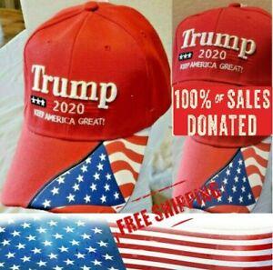 Trump 2020 MAGA Embroidery Hat Keep America Great Again Baseball Red Cap