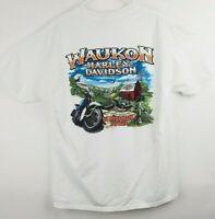 Mens Large White Harley Davidson Short Sleeve T Tee Shirt iowa 2007