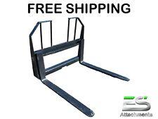 """Es Pallet Forks 42"""" Walk Thru Fork Blade Skid Steer Qa Pallet Fork Free Shipping"""