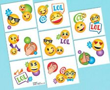 Emoji LOL Birthday Party 16 Tattoos Favors