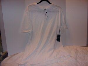 PD &C: Men's XL White Slub Jersey Polo Short Sleeve Shirt /