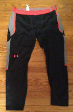 Under Armour Fitted Coldgear Leggings XXL 2XL Black Gray Red 1248952