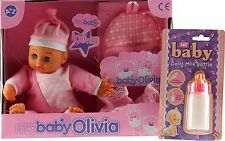 La MIA BABY Olivia ROSA BAMBOLA Romper, Zaino, BOOTIES, MAGIC FEEDING BOTTLE NUOVO