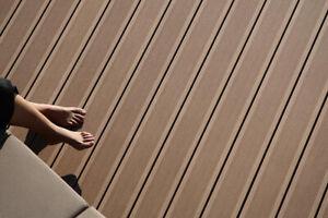 Composite Decking Kit 2.9m Reversible Boards Grey, Brown, Black