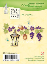 Leane Creatief- Clear Cling Rubber COMBI Stamp AUTUMN 55.2366