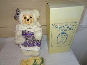 "Robert Raikes Bear ""TRISHA"" Ltd Ed 188/750 MIB Hand Signed Woodcarving Series"