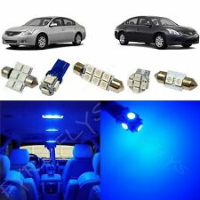 9x Blue LED Interior lights package kit for 2007-2012 Nissan Altima Sedan NA1B