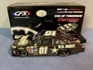 XRARE 1:24 Mark Martin #01 ARMY 2007 BLACK LIQUID CHROME CFS NASCAR COT