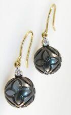 18 Carat Yellow Gold Tahitian Pearl Fine Earrings