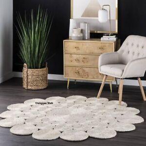 Rug 100% Natural Jute Bohemian Reversible Area Dhurrie Carpet Floor Mat Rag Rug